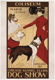 Chicago Kennel Clubs Dog Show Vintage Ad Poster Print Posters