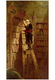 Carl Spitzweg (The bookworm) Art Poster Print Posters