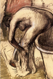 Edgar Degas Female on the Tub Edge Drying Her Legs Art Print Poster Masterprint