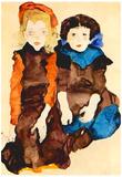 Egon Schiele Girls Art Print Poster Posters