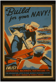 US Navy (Build for your Navy!) Art Poster Print Posters