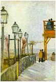 Vincent Van Gogh Montmartre in the Upper Mill Art Print Poster Poster