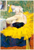 Henri de Toulouse-Lautrec The Clowness Cha U Kao Art Print Poster Photo