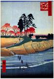 Utagawa Hiroshige Gotenyama Shinagawa Art Print Poster Posters