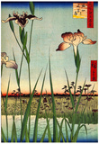Utagawa Hiroshige Iris Garden Art Print Poster - Posterler