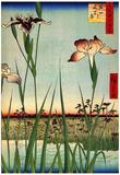 Utagawa Hiroshige Iris Garden Art Print Poster Photo