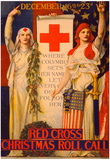 Red Cross Christmas Roll Call Vintage Ad Poster Print Posters