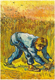 Vincent Van Gogh The Mower with Sickle Art Print Poster Prints