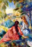 Pierre-Auguste Renoir Young Girls in the Meadow Art Print Poster Masterprint