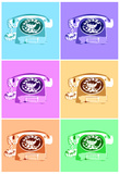 Rotary Telephone Vintage Pop Art Print Poster Prints