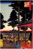 Utagawa Hiroshige Oji Inari Shrine Art Print Poster Print