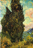 Vincent Van Gogh (Cypresses) Art Poster Print Masterprint