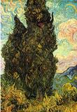 Vincent Van Gogh (Cypresses) Art Poster Print Masterprint