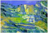 Paul Cezanne House in the Provence Art Print Poster Billeder