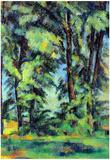 Paul Cezanne High Trees in the Jas de Bouffan Art Print Poster Posters