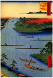 Utagawa Hiroshige Nakagawa River Mouth Art Print Poster Posters