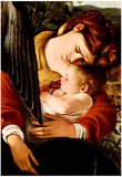 Michelangelo Caravaggio Resting on the Flight into Egypt Detail 2 Art Print Poster Posters