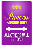 Princess Parking Only Purple Poster Sign Masterprint
