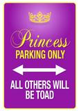 Princess Parking Only Purple Poster Sign Masterprint