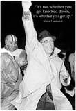 Vince Lombardi Get Back Up Quote Sports Archival Photo Poster Plakaty