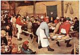 Pieter Bruegel Country Wedding Art Print Poster Prints