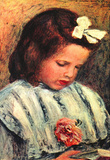 Pierre Auguste Renoir A Reading Girl Art Print Poster Masterprint