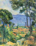 Paul Cezanne (View of L'Estaque and Chateaux d'If (The Sea at L'Estaque)) Art Poster Print Masterprint