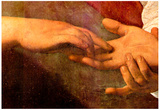 Michelangelo Caravaggio The Fortune Teller Detail 2 Art Print Poster Poster