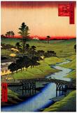 Utagawa Hiroshige Furukawa River in Hiroo Poster