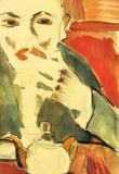 Walter Gramatte Man Chewing Walter Pritzkow Art Print Poster Masterprint