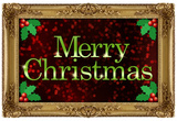 Merry Christmas Faux Framed Holiday Poster Prints