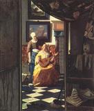 Jan Vermeer van Delft (The love letter) Art Poster Print Masterprint