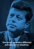 John F. Kennedy Make A Difference iNspire Quote Poster Masterprint