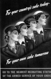 US Armed Services (Recruiting Women, 1944) Art Poster Print Masterprint