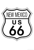 New Mexico Route 66 Sign Art Poster Print Prints