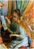 Pierre Auguste Renoir Girls at the Piano Art Print Poster Prints