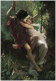 Pierre Auguste Cot (Spring) Art Poster Print Posters