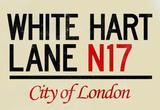 White Hart Lane N17 London Sign Poster Masterprint