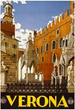 Verona Italy Tourism Travel Vintage Ad Poster Print Print