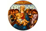 Sandro Botticelli Madonna with Eight Angels Singing Art Print Poster Posters
