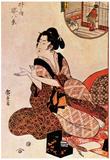 Utagawa Hiroshige Geisha Art Print Poster Posters