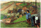 Paul Gauguin Breton Shepherd Art Print Poster Prints