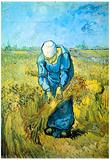 Vincent Van Gogh Farm Worker Art Print Poster Prints