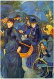 Pierre Auguste Renoir Les Para Pluies Art Print Poster Photo