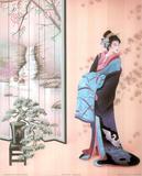 Japanese Girl Asian Japan Sexy Geisha Art Print POSTER Masterprint