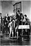 President John F Kennedy Meeting Children Photo Print Poster Prints