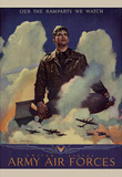 O'er the Ramparts Wa Watch United States Army Air Forces WWII War Propaganda Art Print Poster Masterprint