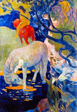 Paul Gauguin The White Horse Art Print Poster Masterprint