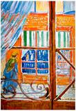 Vincent Van Gogh A Pork Butchers Shop Seen from a Window Art Print Poster Posters