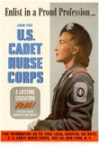 US Cadet Nurse Corps WWII War Propaganda Art Print Poster Posters